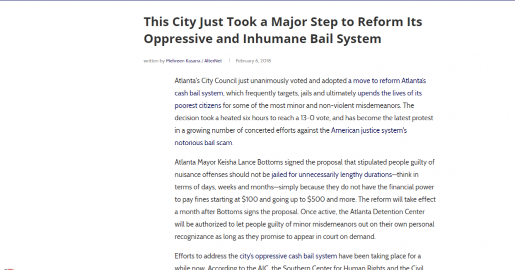 This City Just Took a Major Step to Reform Its Oppressive and Inhumane Bail System | AlterNet