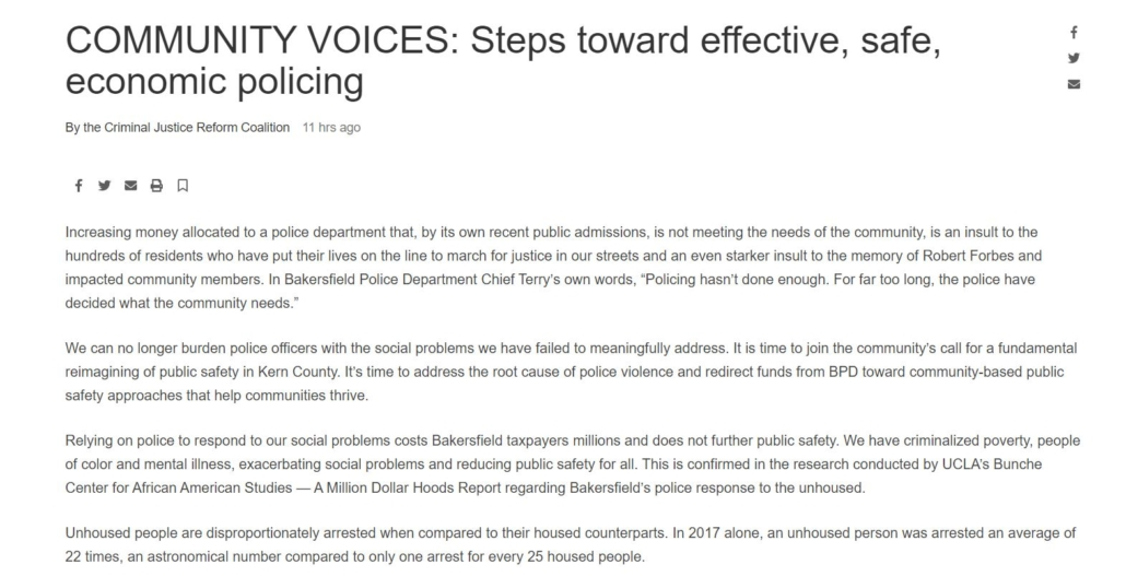 COMMUNITY VOICES: Steps toward effective, safe, economic policing